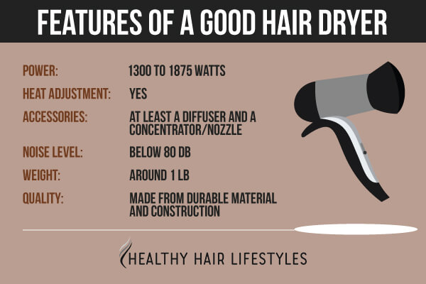 Features of a good hair dryer