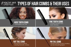Types of hair combs and their uses