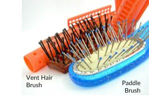 Vent hair brush and paddle hair brush