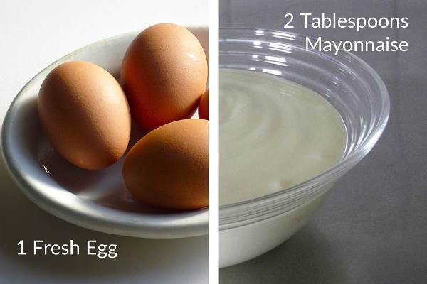 Egg and mayonnaise for a protein-rich hair mask