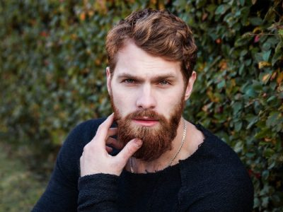 Brown-haired man with beard